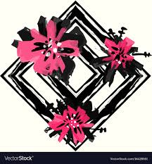 Pink Ink Designs Stencils Floral Hand Painted Expressive Pink Ink And