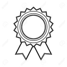 Award Ribbon Blank Icon Vector Illustration Graphic Design Royalty