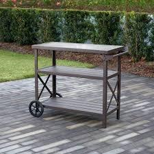 serving cart outdoor outdoor living farmstead aluminum 3 shelf serving cart outdoor serving cart plans outdoor