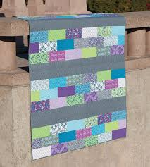 """The easiest quilt pattern ever - Stitch This! The Martingale Blog & Rows of Bricks quilt """" Adamdwight.com"""