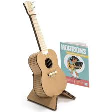 howtoons diy cardboard ukulele kit