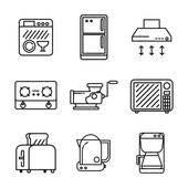 kitchen appliances clipart. Interesting Appliances Kitchen Appliances Icon Set Kitchen Set Throughout Appliances Clipart I