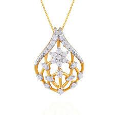 nakshatra yellow gold diamond pendant