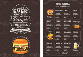 free food menu templates menu template psd rome fontanacountryinn com