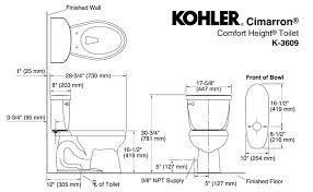 kohler toilet dimensions standard toilet dimensions in inches