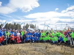 ООО Газпром трансгаз Санкт Петербург  До свидания Тюмень Сотрудники компаний Группы Газпром перед посадкой деревьев