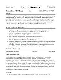 Nursing Skills Resume Inspiration Er Nursing Resume Emergency Nurse Sample New For Nurses With Job
