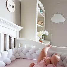 Canadian hand made braided crib bumper nursery ideas crib bedding nursery  decor knot pillow crib pad