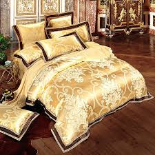 white and gold bedding set pink green purple silver beige white gold luxury satin jacquard bedding