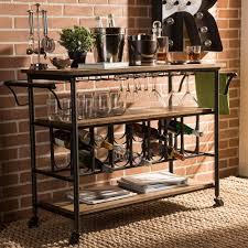 Wine Carts Cabinets Baxton Studio Bar Cabinets Carts Kitchen Dining Room