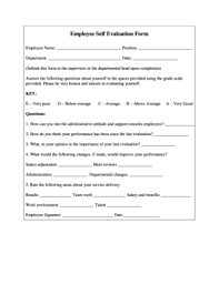 Employee Evaulation Form 134 Printable Employee Evaluation Form Templates Fillable Samples
