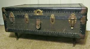vintage trunk coffee table steamer style mathis with lift top by darby home co