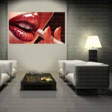 red lips face and cigarette canvas wall art decor on wall art red lips with red lips and cigarette canvas wall art print