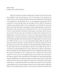 education reflection essay education reflective essay edu essay