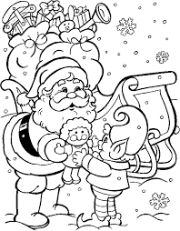 Small Picture Christmas Coloring Pages Santa Coloring Pages