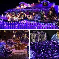 Purple Led Christmas Lights Purple Color Solar Christmas Lights 72ft 200 Led 8 Modes