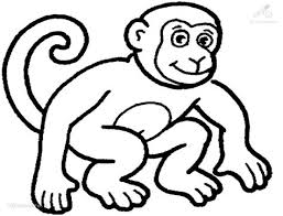 Flea Bag Monkey Face Free Colouring Pages