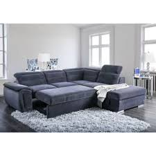 Image Convertible Furniture Of America Alina Contemporary 2piece Chenille Convertible Sleeper Sectional With Ottoman Overstock Buy Sleeper Sectional Sofas Online At Overstockcom Our Best