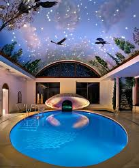 cool bedrooms with pools. Modern Bedroom Decorations Using Moon Ideas: Cool Indoor Swimming Pool Roof Pays A Tribute To Bedrooms With Pools I