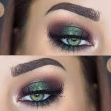 metallic emerald green smokey eye makeup makenziewilder