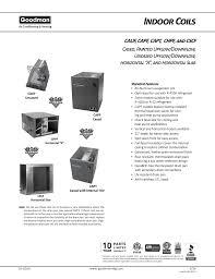 Goodman Piston Size Chart R410a Indoor Unit Specifications Manualzz Com