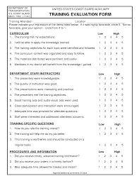 On The Job Training Form Photo On The Job Training Evaluation Form Images Forms Templates 1