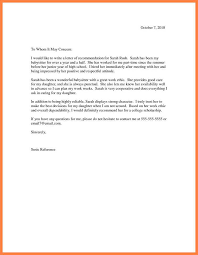 letter for recommendation 8 college letter of recommendation samples receipts template
