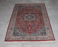 persian hand knotted kashan rug vintage wool carpet