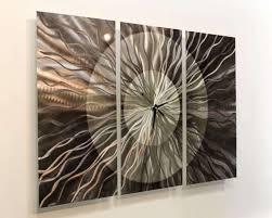 large metal wall clock contemporary wall art sculpture by jon allen