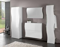 hall entrance furniture. onda modern entrance hall wardrobe shoe cabinet panel hanger and mirror in white furniture n