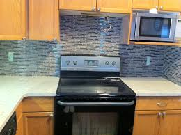 kitchen blue glass backsplash. Best Blue Glass Tile Backsplash On Kitchen With The Plugs Will Soon Be Replaced From Standard L