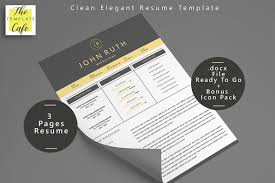 Clean Elegant Ms Word Resume Template