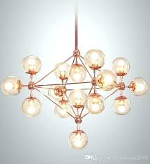 glass ball chandelier modern re living room light rose gold chandeliers bubble uk chandelie