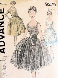 1950s Dress Patterns Stunning 48s COCKTAIL EVENING DRESS PATTERN LOW SCOOP NECKLINE DEEP V BACK