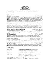 Emt Basic Resume Examples Emergency Medical Technician Sample New