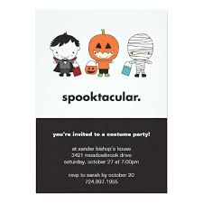 Spooktacular Halloween Costume Party Invitation Card