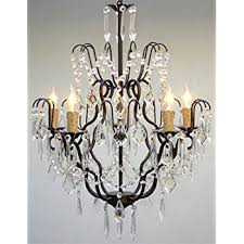 wrought iron crystal chandelier chandeliers lighting h27 x w21 with regard to and ideas 0