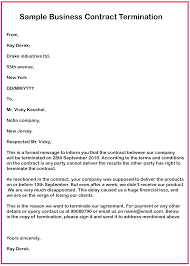 Free Business Letter Samples 4 Free Business Contract Termination Letter With Example