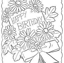 Birthday Coloring Book Printable Happy Birthday Coloring Cards Happy