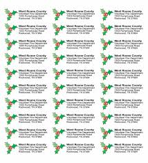 Christmas Address Labels Free Christmas Return Address Labels