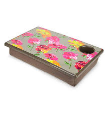 study easily wherever you go with the pretty posies lap desk complete with padded bottom
