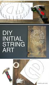 Make your own DIY Initial String Wall Art, in a few quick steps. This