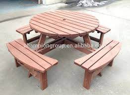 wooden round picnic table wood round picnic table set childrens wooden picnic table plans wood picnic table with umbrella hole