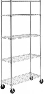 details about rolling portable metal garage shelving shelf 5 storage shelves heavy duty rack