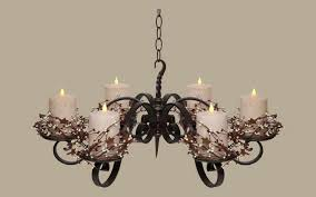 non electric candle chandelier
