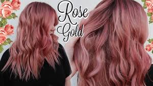 my rose gold hair color tutorial best formula ever