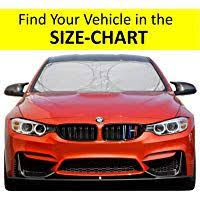Frost Guard Windshield Cover Size Chart Windshield Sun Shade Easy Read Size Chart For Car Suv Trucks