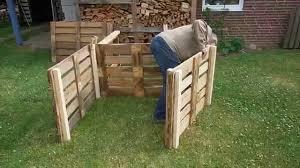 Komposter Aus Europaletten Selber Bauen Garten Kompost
