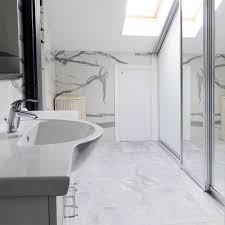 white carrara marble bathroom. Extra Large White Marble Effect Tiles Carrara Bathroom