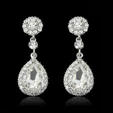 fashion vintage wedding crystal glass rhinestone dangle drop chandelier earrings